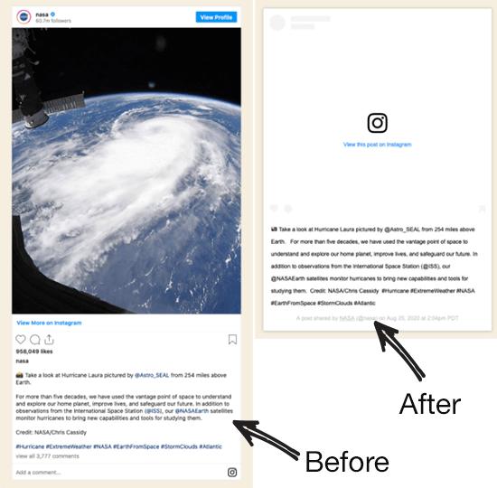 Instagram oEmbed Sebelum dan Setelah Perubahan API