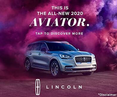 Iklan media kaya Lincoln Aviator.