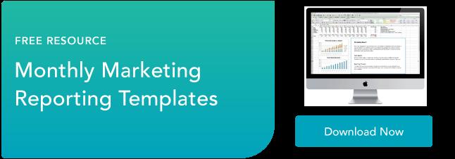template pelaporan pemasaran