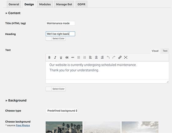 Rancang halaman pemeliharaan Anda